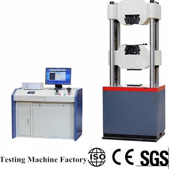 100 Ton Hydraulic Universal Testing Machine With Four Columns For Bolt Screw Tensile Shearing Shearing Test